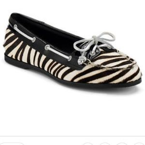 Sperry Shoes - Sperry Top Sider Audrey Zebra Calf Hair Slip On 7